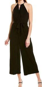 1.STATE Halter Neckline Cross Front Knit Jumpsuit